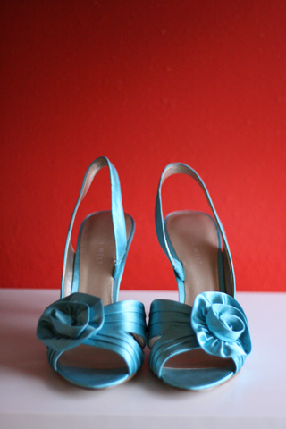 elegant blue wedding shoes